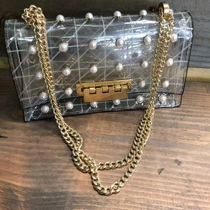 ZAC Zac Posen Earthette Quilted Pearl Shoulder Bag
